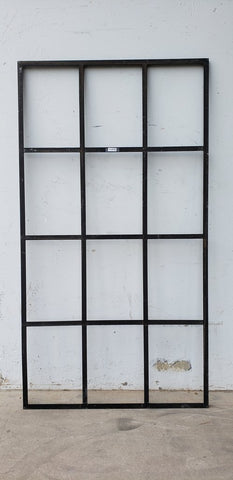 Black Iron Mirrored Window