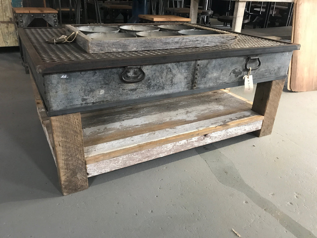 Barn Wood and Metal Coffee Table