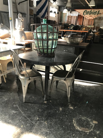 Round steel dinning table