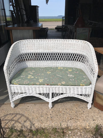White Wicker loveseat