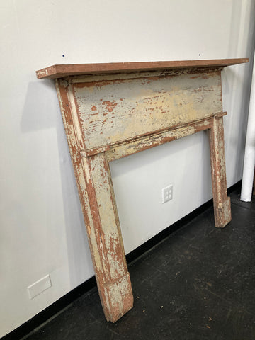 Chippy Paint Wood Mantle & Surround