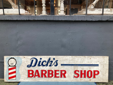 """Dick's Barber Shop"" Sign"