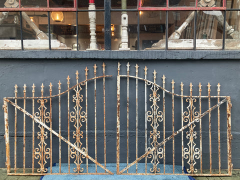 Pair of Ornate Iron Gates