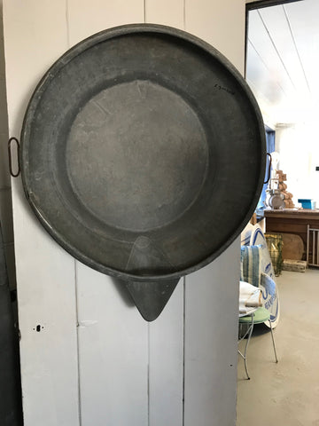Large Galvanized Fish Pan / Bowl