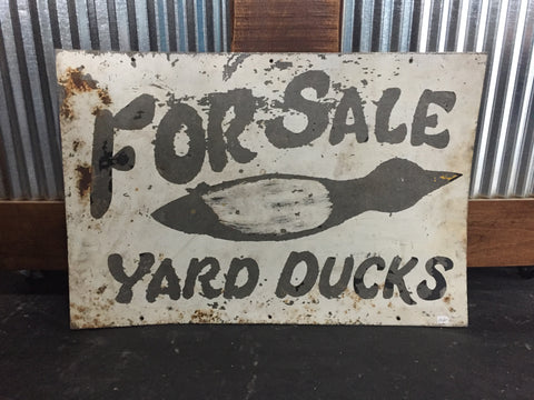 """For Sale Yard Ducks"" Metal Sign"