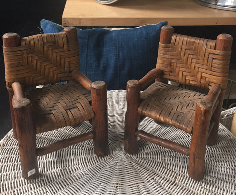 Small Wicker Chair Set