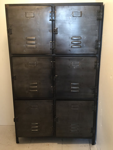 6 Door Industrial Metal Cabinet
