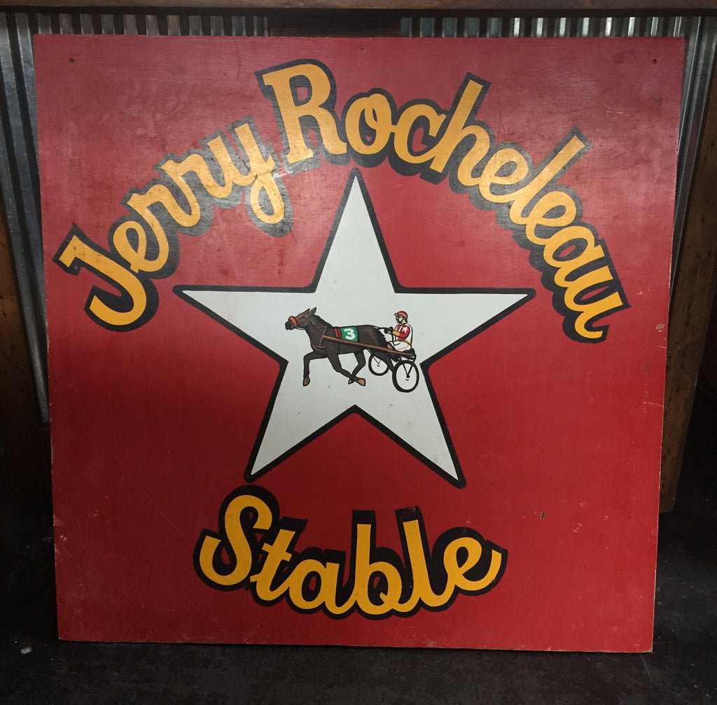 """Jerry Rocheleau Stable"" Wooden Sign"