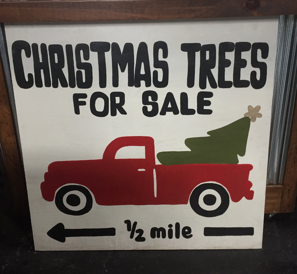 """Christmas Trees For Sale"" Wooden Sign"