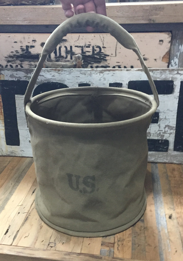 US Army Canvas Water Bucket