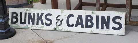"""Bunks & Cabins"" Wood Sign"