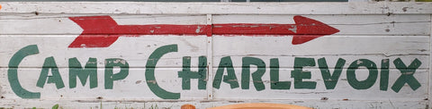 """Camp Charlevoix"" Large Wood Sign"