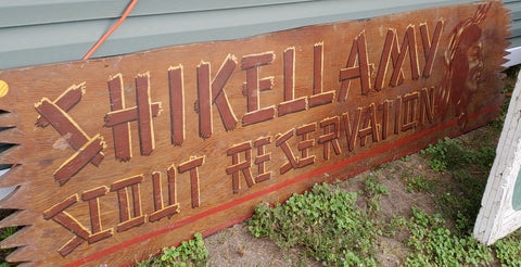 """Shikellamy Scout Reservation"" Large Wood Sign"