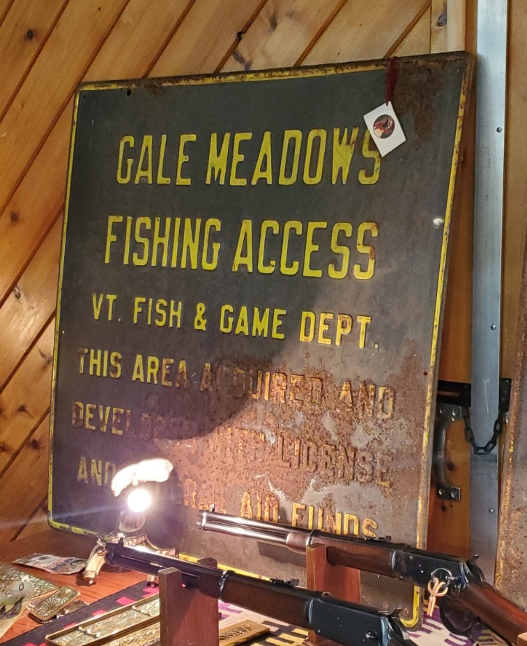 """Gale Meadows Fishing Access"" Metal Sign"