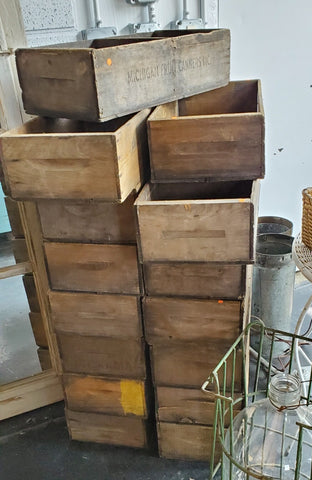 Vintage Wood Cherry Lugs (Crates) from Grand Traverse Area