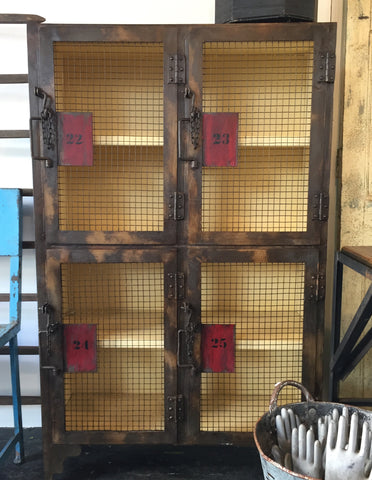 Mesh Doors Metal Locker from Ralph Lauren Studio New York 1970's