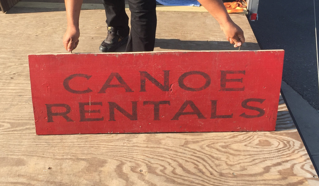 """Canoe Rentals"" Wood Sign"