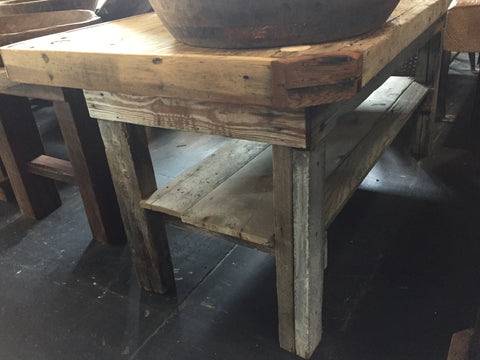 Wood Work Table/Island