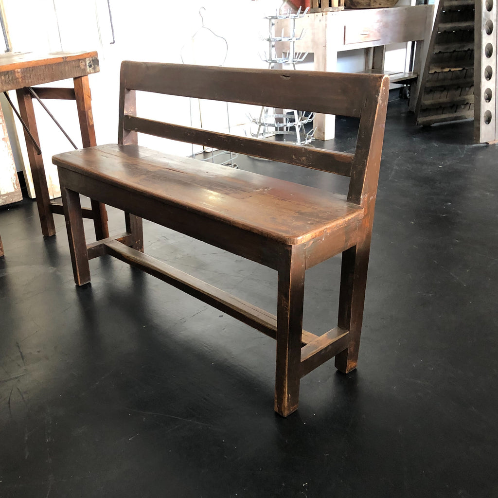Wood Benches from Escanaba Michigan School