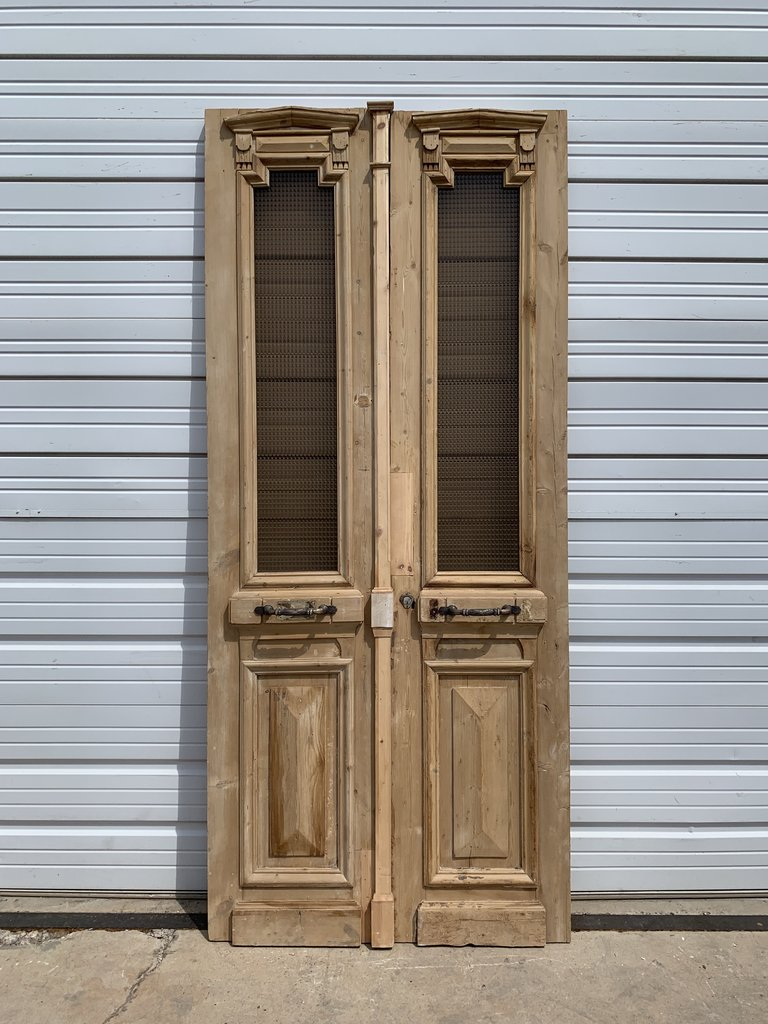 Pair of Wood Doors with Listral Glass
