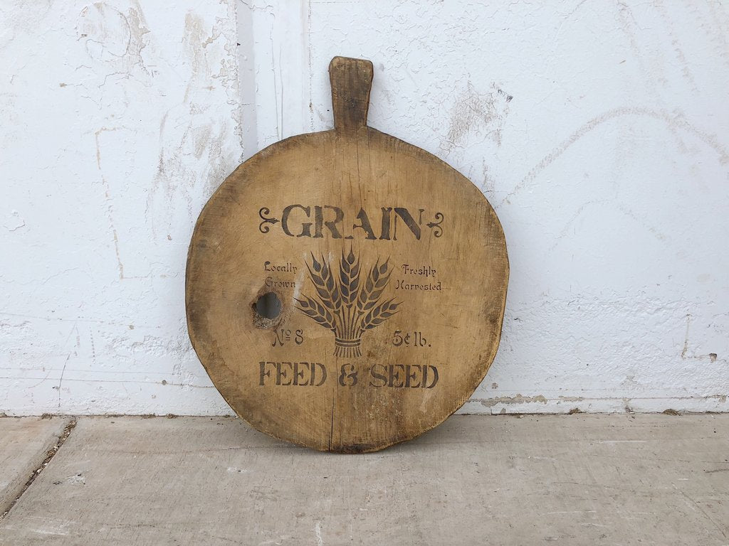 Large Stenciled French Bread Board
