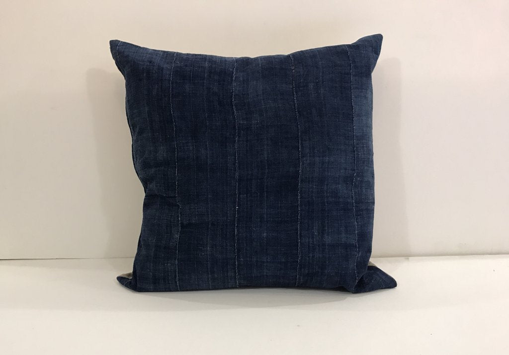 Large Blue Square Pillow