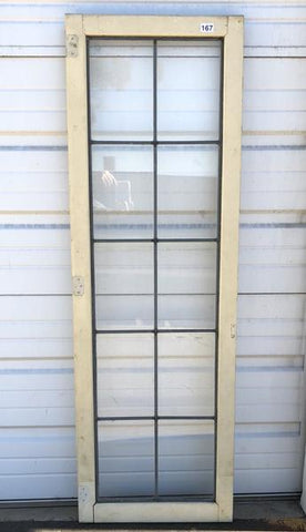 10 Pane White Leaded Glass Window