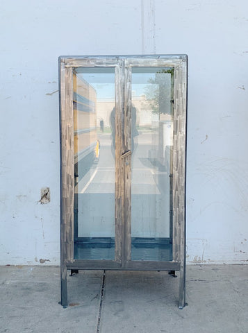 Stripped Metal Hospital / Medical Cabinet