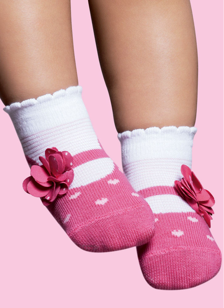 Ballerina Pink with Side Bow - regular socks