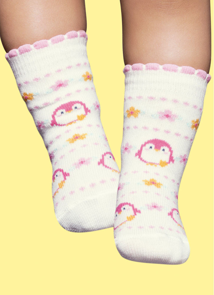 Pink Penguins - Regular Socks