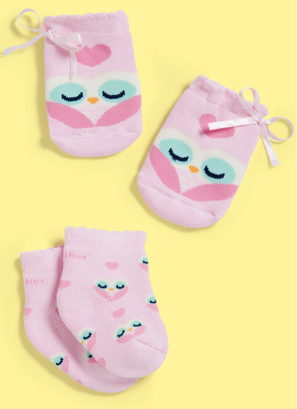 Newborn SET Gloves + Socks Pink