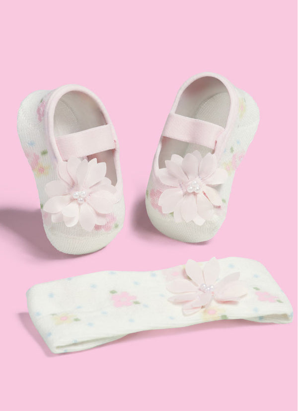 SET Ballerina Cream Flowers with Hairband
