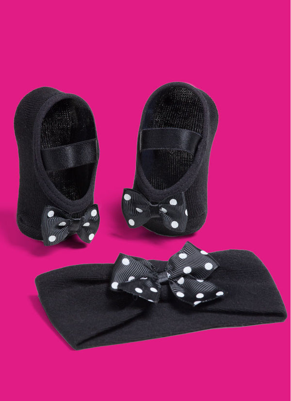 SET Ballerina Black with Hairband