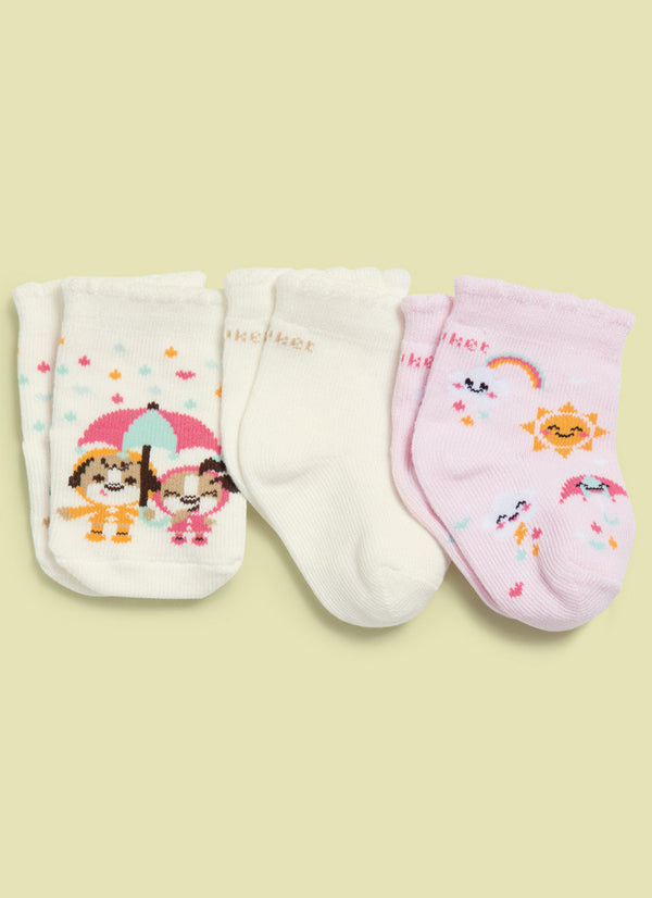 Tripack Girls - Regular Socks