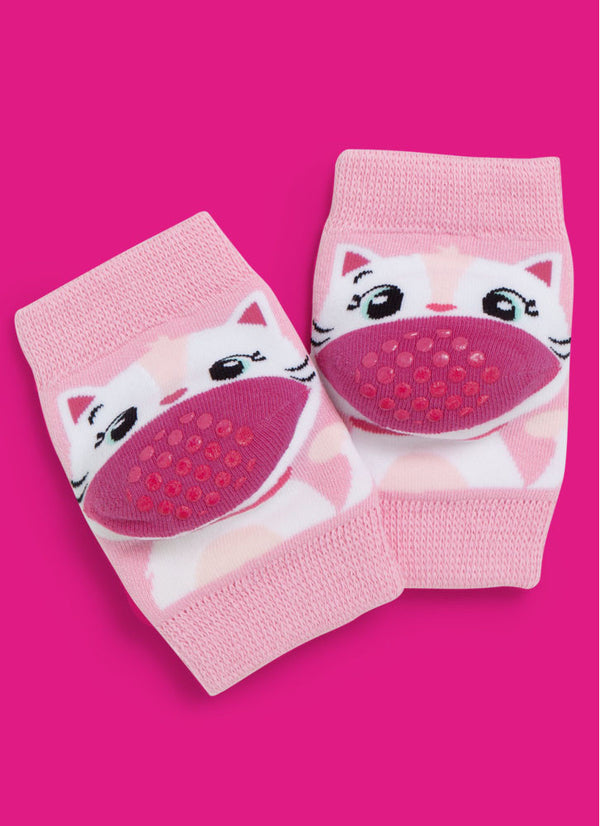Knee Pads - Cats Pink