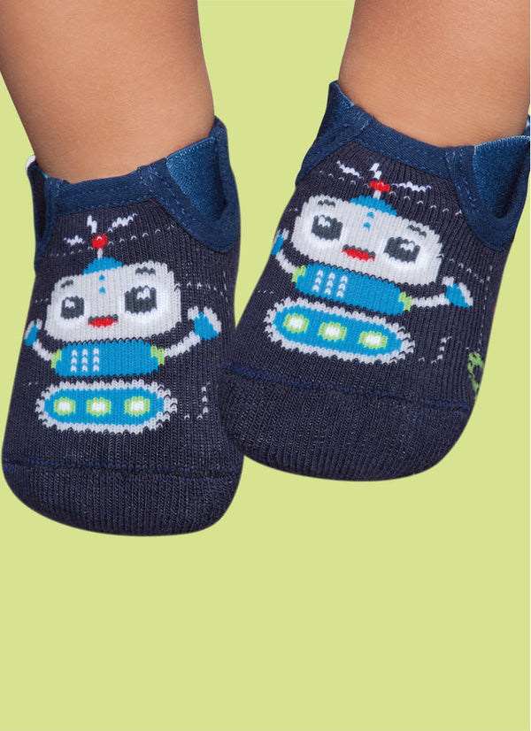Blue Robot - Non-Slip - Slippers