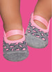 Ballerina Leopard Grey and Pink - Non-Slip