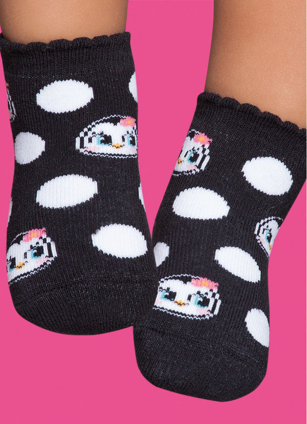 Socks Black Penguins - Non-Slip