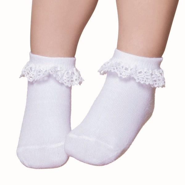 Party Socks White Dentele