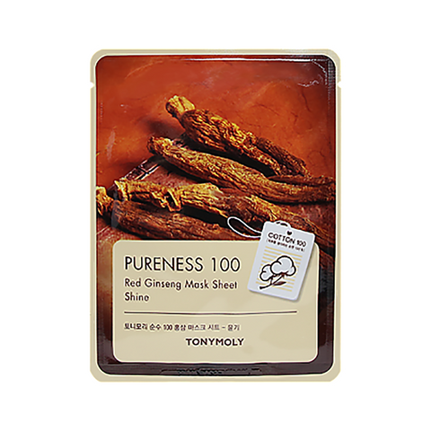 Tonymoly Pureness 100 Mask Sheet #Red Ginseng