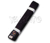 Deluxe Satin Weave Karate Obi Black