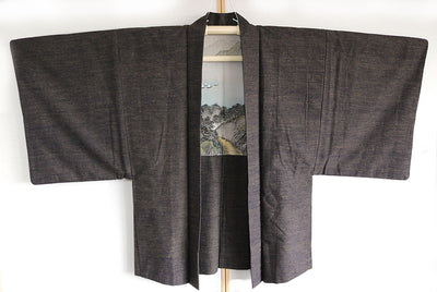 Antique Kimono and Haori Set
