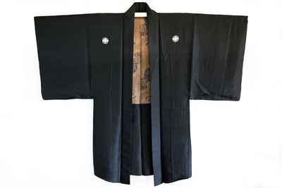 Antique Silk Haori Jacket with Kamon