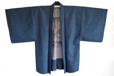 Antique Kimono and Haori Jacket Set