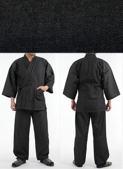 Denim Samue Zen Buddhist Working Clothes (4 colors)