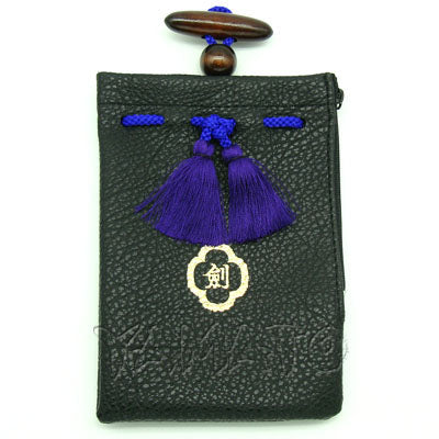 """KEN"" Pouch Bag with Netsuke"