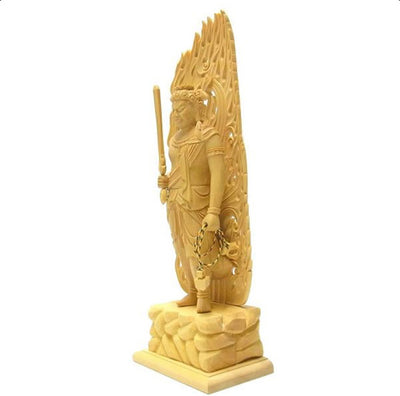 Deluxe Hand Carved Fudo Myo Statue LARGE