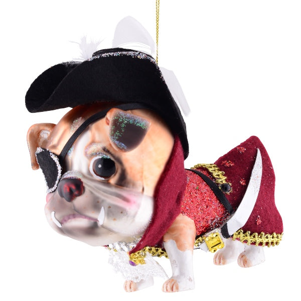 Julekugle - Bulldog - Captain Hook