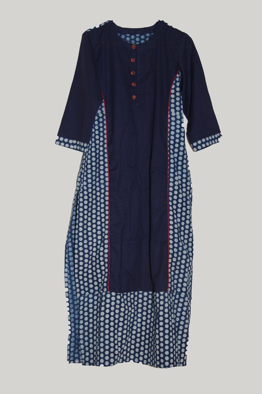 kurti set red blue