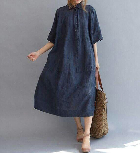Frock like Kurti - Dark Blue